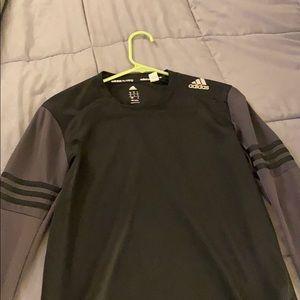 Black adidas running shirt